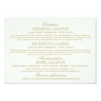 Or antique de la carte détail de mariage | carton d'invitation  11,43 cm x 15,87 cm