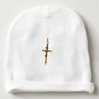 Or croisé de Jésus-Christ horizontal Bonnet Pour Bébé
