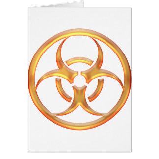 Or de Biohazard Carte De Vœux