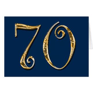 or de bleu de S de soixante-dixième HOMMES de Carte