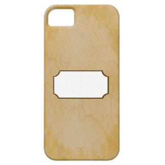 Or de craquement avec l'espace de monogramme étui iPhone 5