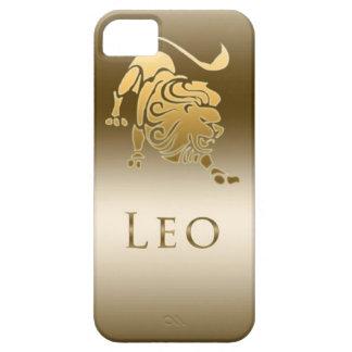 OR DE LION DE SIGNE DE ZODIAQUE COQUE BARELY THERE iPhone 5