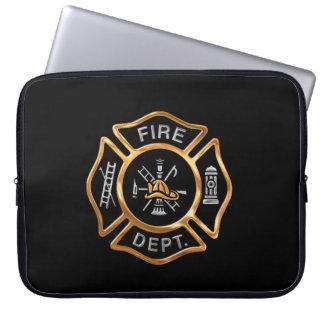 Or d'insigne de sapeur-pompier trousse ordinateur