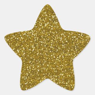 Or élégant de scintillement sticker étoile