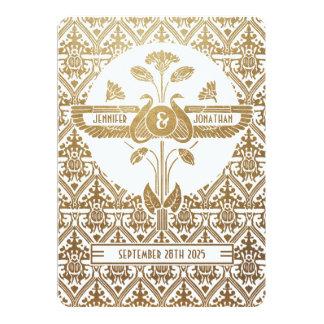Or et blanc d'invitations de mariage de Nouveau Carton D'invitation 12,7 Cm X 17,78 Cm