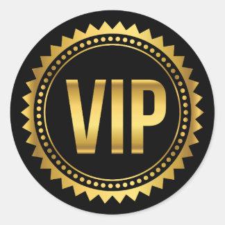 Or et passage rond de partie des transitoires VIP Sticker Rond