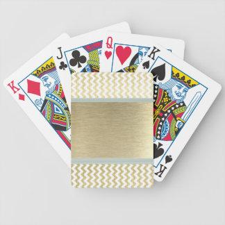 Or fascinant adorable de chevron jeu de cartes