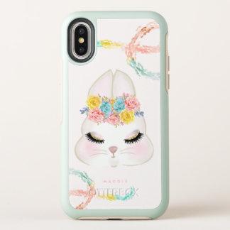 Or floral Girly de rose de visage de lapin