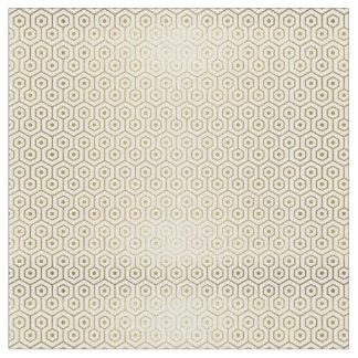 Or géométrique et tissu modelé par blanc