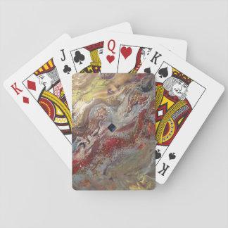 Or liquide cartes à jouer