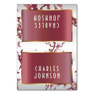 Or, marbre rose d'or et blanc - placez les cartes