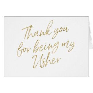 """Or """"Merci pour mon être mon Usher """" Carte De Vœux"""