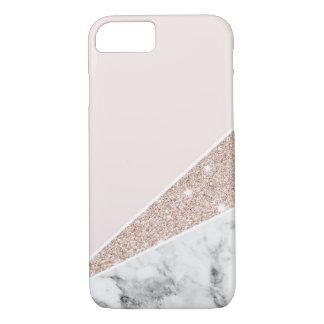Or rose, scintillement d'or, et marbre coque iPhone 7