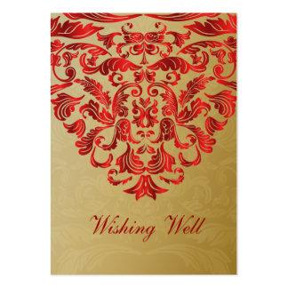 or rouge souhaitant les cartes bonnes modèles de cartes de visite