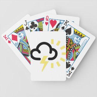 Orage : Rétro symbole de prévisions météorologique Jeux De Cartes