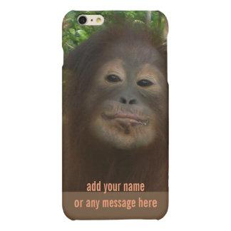 Orang-outan d'affaires de singe de bouche de pâté