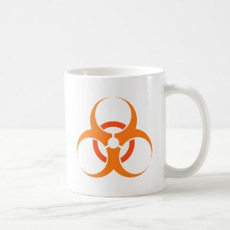 Orange biologique de symbole de risque de mug