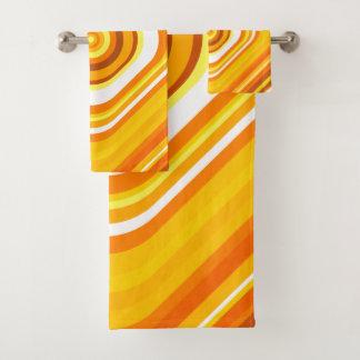 Orange, blanc et motif Coucher du soleil-Inspiré