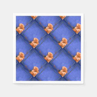 Orange bleue de mariage rose serviettes en papier