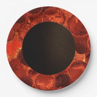 Orange-Conception Plat-Brûlée par papier 2 de Assiettes En Papier