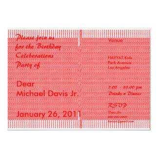Orange de luxe de satin avec le texte 2 témoin carton d'invitation  12,7 cm x 17,78 cm