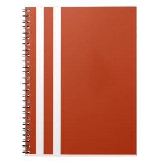 Orange et blanc barre le carnet