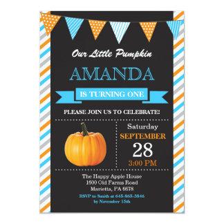 Orange et bleu d'invitation d'anniversaire de carton d'invitation  12,7 cm x 17,78 cm