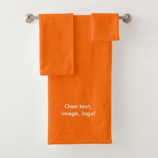 Orange figée par serviette de salle de bains uni