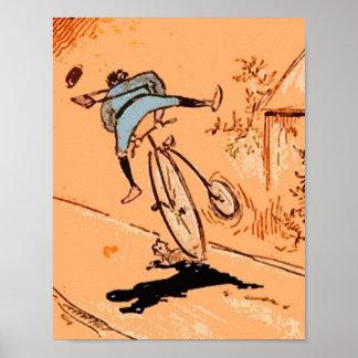 Orange humoristique vintage de chat d'automne de t poster