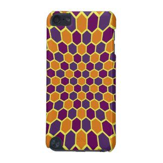 Orange pourpre en expansion d'orchidée d'hexagones coque iPod touch 5G