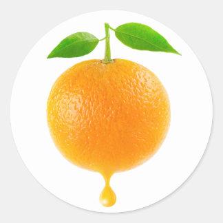 Oranje #5 ronde stickers