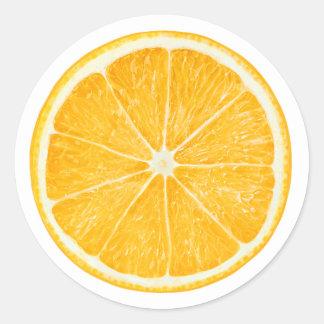 Oranje #8 ronde sticker