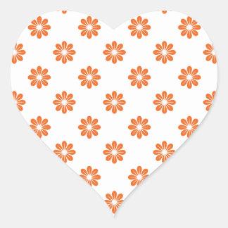 Oranje Bloem 8 van Celosia Hartvormige Stickers