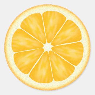 Oranje Citrusvruchten Ronde Sticker