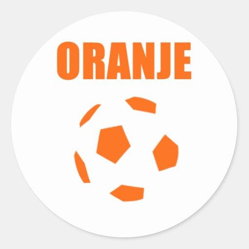 Oranje - de T-shirts van Nederland Voetball Sticker