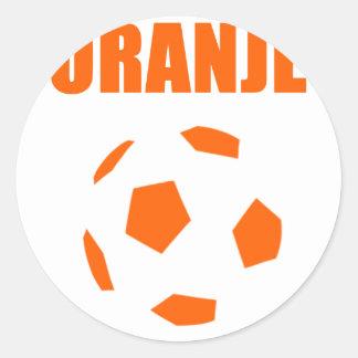 Oranje - de T-shirts van Nederland Voetball Ronde Sticker