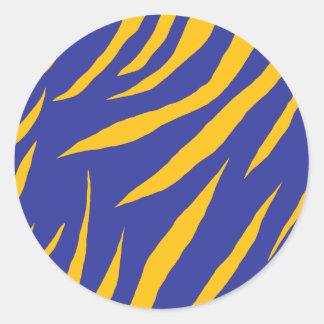 Oranje Dierlijke Strepen Ronde Stickers
