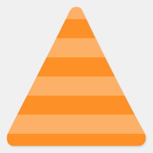 Oranje en Donkeroranje strepen - Driehoek Sticker