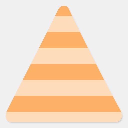 Oranje en Lichtoranje strepen - Driehoekvormige Stickers