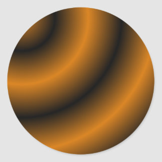 Oranje en Zwarte Ronde Werveling Ronde Sticker