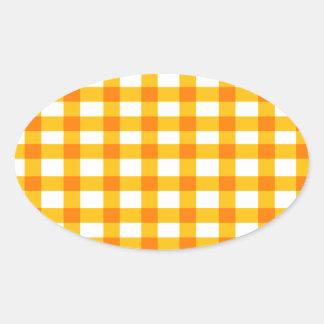 Oranje Gingang Ovale Stickers
