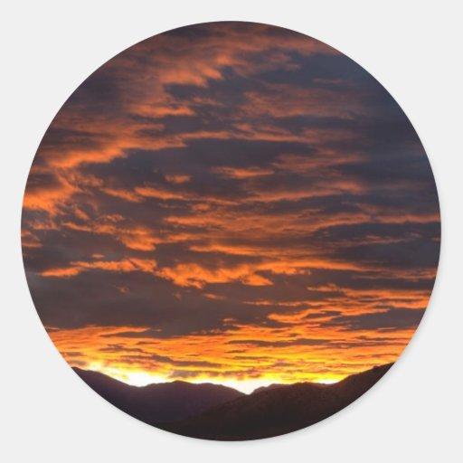 Oranje Hemel Sticker