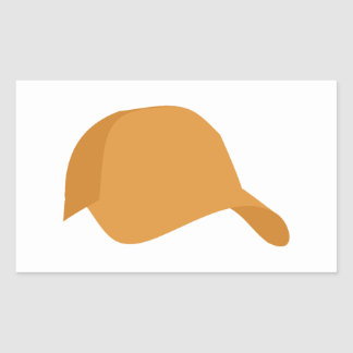Oranje honkbalpet rechthoekige sticker
