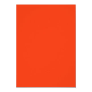 Oranje Kleur 12,7x17,8 Uitnodiging Kaart