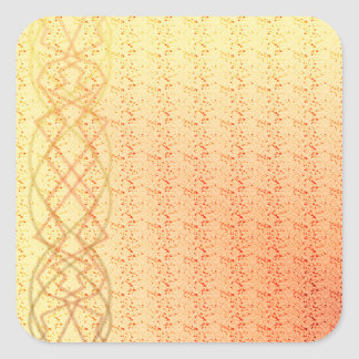 Oranje Lichten Vierkant Stickers