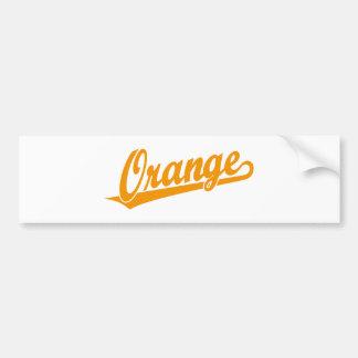 Oranje manuscriptlogo in sinaasappel bumpersticker