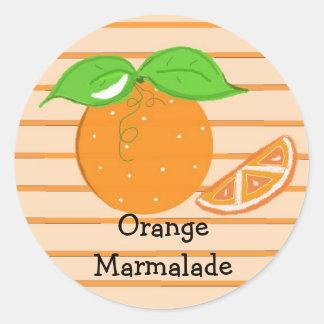 Oranje Marmelade Ronde Sticker