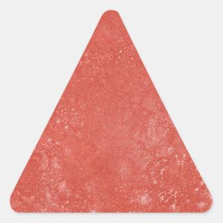 Oranje Marmer Driehoek Sticker