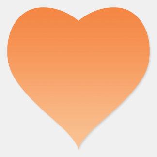 Oranje Ombre Hartvormige Stickers