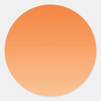 Oranje Ombre Ronde Sticker